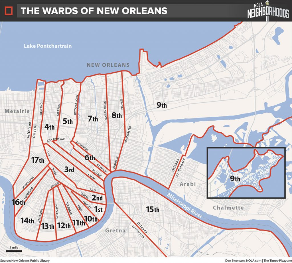 new orleans districts map The Wards Of New Orleans new orleans districts map